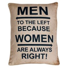 Picture of Men to the Left Pillow - 14x18-in.