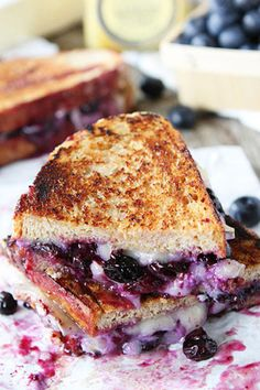 Blueberry, Brie and Lemon Grilled Cheese: 13 Grown-Ass Grilled Cheese Recipes