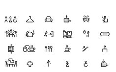 EDP custom pictograms, Porto, 2011    Design of pictograms for Porto headquarters signage, based on the EDP corporate typeface created by Stefan Sagmeister