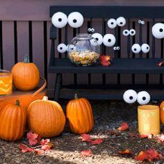 Styrofoam balls with eyes!!!!