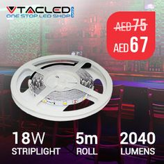 #VTAC #LED #Strip Lights are suitable for customised applications, flexible to any size or interior. Most popular for concealed lighting creating great ambience for any environment.