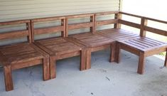 DIY outdoor sectionals-- I would then put cushions and pillows on them, but this is good for the basic structure.