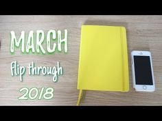 I've finally made a March bullet journal related video! Bullet Journal Flip Through, March Bullet Journal, Journal Ideas, Youtube, Youtubers, Youtube Movies