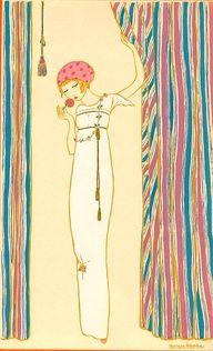 Paul Poiret 1911, illustration de mode de Georges Lepape