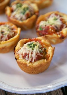 Chicken Parmesan Cupcakes - chicken parmesan bites made in a muffin pan