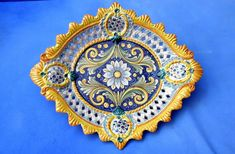 Italian Pottery, Tile Patterns, Sicily, Ceramic Pottery, Home Deco, Decorative Plates, Outdoor Blanket, Artisan, Hand Painted