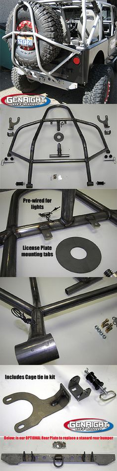 """This is the Steel version of the GenRight """"Swing Down"""" rear tire carrier that we have used on many of the GenRight Jeeps for years."""