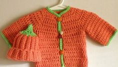 Crocheted Halloween Infant Set