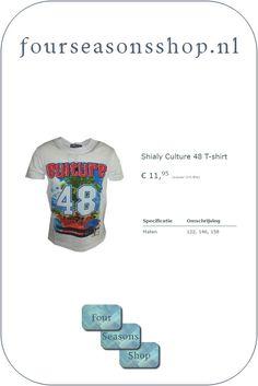 Culture 48 t-shirt #fourseasonsshop.nl #jongensshirt Four Seasons, T Shirts, Sweatshirts, Sweaters, Fashion, Tee Shirts, Moda, Fashion Styles, Seasons Of The Year