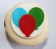 balloon fondant cupcake topper