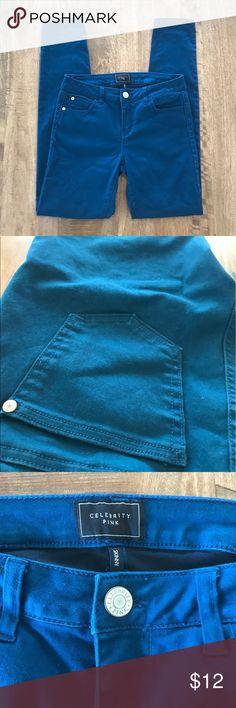 "🎉HP🎉 Like New Dark Teal Skinny Jeans Like new dark teal Celebrity Pink skinny jeans. Size 5 ✨                                                                           🎉""Best In Jeans"" Host Pick🎉 Celebrity Pink Jeans Skinny"