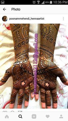 Full Mehndi Designs, Beautiful Henna Designs, Bridal Mehndi Designs, Bridal Henna, Indian Bridal, Arabic Henna, Henna Mehndi, Henna Art, How To Do Henna