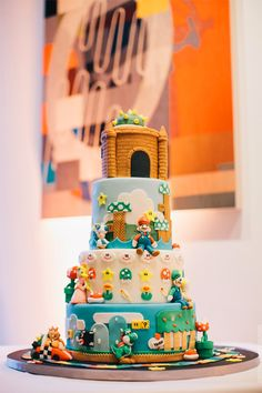 A great Super Mario cake - Jerry Yoon photographers, Stephanie & Jim's wedding in San Francisco
