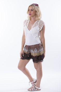 Lace Trim Shorts, Boho Shorts, Collection, Tops, Women, Fashion, Moda, Fashion Styles, Fashion Illustrations