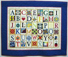 A very clever alphabet quilt. Each letter stands for a patchwork block. Patchwork Dortmund 2010; posted at Steffi's Candy Quilts