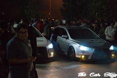 Car meet burnouts