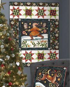Woodland Dream Winter Patches Beige Christmas Stoffe Patchworkstoffe Weihnachten
