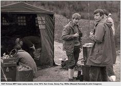 Kinloss MRT base-camp scene, circa 1974. In here ~ Ken Cross, Davey Foy, Willie (Weasel) Kennedy & John Cosgrove.
