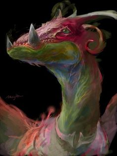 Rainbow Dragon by Necojita, via Flickr