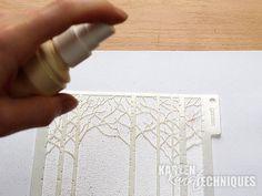 Karten-Kunst Technique #25: Templates und Brusho