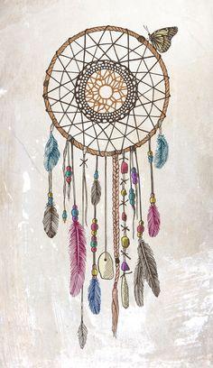 Lakota (Dream Catcher) Art Print by Rachel Caldwell   Society6