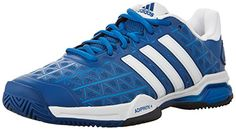Adidas Barricade Club Men's Tennis Shoes Blue/White (10.5) >>> More info could be found at the image url.