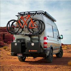 Mountain biking is better when you have an awesome transport vehicle like this sprinter Mercedes Sprinter Camper, Sprinter Rv, Sprinter Van Conversion, Truck Camper, Camper Trailers, Motorhome, Ambulance, Day Van, Expedition Vehicle