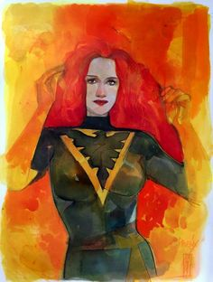 Jean Grey - Phoenix by Alex Maleev *