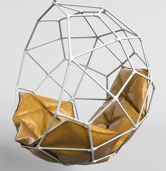 globe hanging chair obj