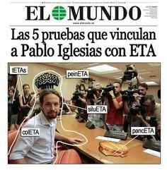Podemos Pablo Iglesias: Portada de El Mundo ¡ PARA QUE SE ENTERE ESPERANZA AGUIRRE!