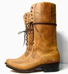 $700 VTG LIBERTY BOOT CO. Tobacco Leather Boots HANDMADE BOOTS Sz 8 *EXCELLENT*  #LibertyBootCompany #CowboyWestern