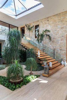 Design Exterior, Interior And Exterior, Dream Home Design, Modern House Design, Modern Tropical House, Tropical House Design, Tropical Homes, Villa Design, Interior Garden