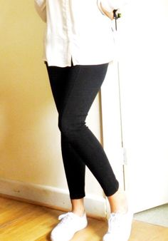One item styled 4 ways - plain white trainers Trainers, Black Jeans, Pretty, Style, Fashion, Tennis, Swag, Moda, Fashion Styles