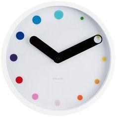 Happy Karlsson Eclipse White Steel Wall Clock