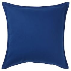 IKEA - GURLI, Cushion cover, dark blue, Cotton is a soft and easy-care natural material that you can machine wash. The hidden zipper makes the cover easy to remove. Sofa Pillow Covers, Cushions On Sofa, Cushion Covers, Throw Pillows, Armoire Pax, Recycling Facility, Dark Blue Green, Golden Yellow, Dark Grey