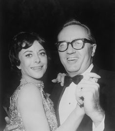 Lamarr dancing with her sixth husband, Lewis J. Boies, at an after party for the premiere of Ronald Neame's 'The Chalk Garden', Hollywood, California, 1964
