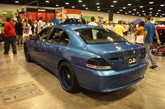 DUB SHOW 2009 BMW 745 blue on blue asanti wheels
