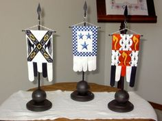 Table banners done by the Heraldry Society of Scotland.