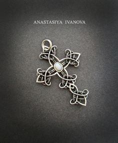 silver cross with opal by nastya-iv83 on DeviantArt