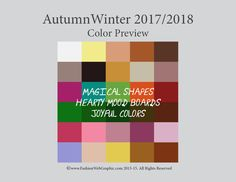 AutumnWinter 1017/2018 Trend Forecasting for Women, Men, Intimate, Sports - Color Preview!