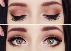 Love the earthy tones and simple cat eye