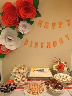 Day & Details - orange dessert table