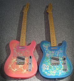 Paisley Telecasters. Beautiful!