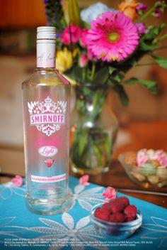 Spring is here and so is SMIRNOFF SORBET™ Light Raspberry Pomegranate! #Smirnoff #vodka #drinkrecipe #raspberry #pomegranate #spring