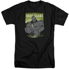 Iron Giant/Helping Hand Short Sleeve Adult T-Shirt Tall in