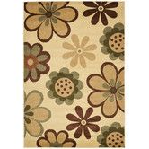 Found it at Wayfair - Porcello Ivory/Green Rug