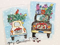 How to Draw a Christmas Car