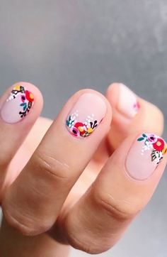 Cute Summer Nail Designs, Cute Summer Nails, Nail Designs Spring, Spring Nails, Nail Summer, Summer Toenail Designs, Nail Art Designs, Acrylic Nail Designs, Nails Design