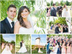 Hochzeit in der Elfrather Mühle in Krefeld. Freie Trauung draussen im Obstgarten.