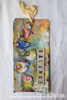My Life in Collage: Bird Crazy, now with Sizzix Thinlits dies by Tim Holtz